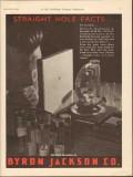 Byron Jackson Company 1930 Vintage Ad Oil Disc Bit Straight Hole Facts