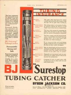 Byron Jackson Company 1930 Vintage Ad Oil Tubing Insurance Surestop