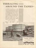 caterpillar tractor company 1930 terracing tanks oilfield vintage ad
