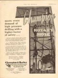 Champion Barber Inc 1930 Vintage Ad Oilfield High Pressure Rotary Hose