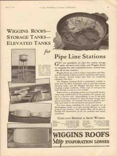 Chicago Bridge Iron Works 1930 Vintage Ad Wiggins Roofs Storage Tanks