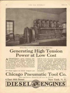 Chicago Pneumatic Tool Company 1930 Vintage Ad Oil Generating Power