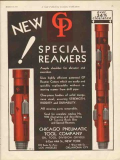 Chicago Pneumatic Tool Company 1930 Vintage Ad Oil Special Reamers