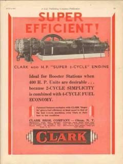 Clark Brothers Company 1930 Vintage Ad Oil Engine Super Efficient