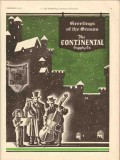 Continental Supply Company 1930 Vintage Ad Oil Greetings Of The Season