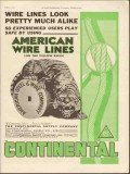 Continental Supply Company 1930 Vintage Ad Oil American Wire Lines