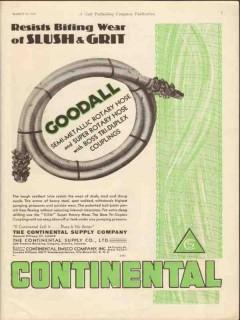 Continental Supply Company 1930 Vintage Ad Goodall Resists Slush Grit