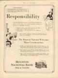 houston national bank 1930 responsibility oilfield finance vintage ad