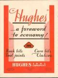 Hughes Tool Company 1930 Vintage Ad Oil Field Core Rock Bits Economy