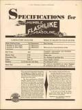 Humble Oil Refining Company 1930 Vintage Ad Gasoline Flashlike Specs
