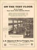 I P Morris De La Vergne Inc 1930 Vintage Ad Oilfield Diesel Test Floor