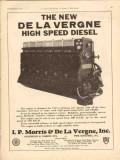 I P Morris De La Vergne Inc 1930 Vintage Ad Oilfield Diesel High Speed