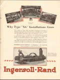 Ingersoll-Rand 1930 Vintage Ad Gas Compressors Type XG Installations