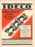 International Derrick Equipment Company 1930 Vintage Ad Oil Chain