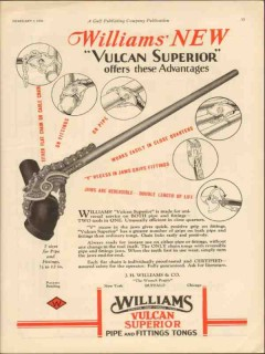 J H Williams Company 1930 Vintage Ad Oil Field Pipe Fittings Tongs