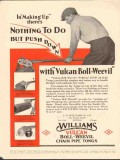 J H Williams Company 1930 Vintage Ad Oil Field Pipe Tongs Boll-Weevil