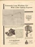 J P Ratigan Inc 1930 Vintage Ad Oil Field Pumping Rig Little Upkeep