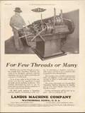 landis machine company 1930 few threads many bolt threading vintage ad