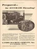 landis machine company 1930 prepared accurate threading vintage ad