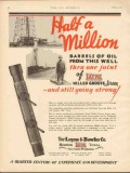 Layne Bowler Company 1930 Vintage Ad Oil Field Half-a-Million Barrels