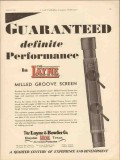 Layne Bowler Company 1930 Vintage Ad Oil Field Milled Groove Screen