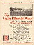 Layne Bowler Company 1930 Vintage Ad Oil Field Houston TX Plant New