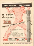 Layne Bowler Company 1930 Vintage Ad Oil Field Dependable Strength