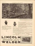 lincoln electric company 1930 fleetweld gulf pipe line weld vintage ad