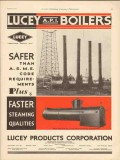 Lucey Products Corp 1930 Vintage Ad Oil Field Boiler Safer ASME Code