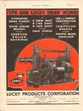 Lucey Products Corp 1930 Vintage Ad Oil Field Draw Works Type 888