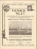 Martin-Decker Corp 1930 Vintage Ad Oil Field Weight Indicator Venice