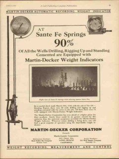 Martin-Decker Corp 1930 Vintage Ad Weight Indicators Sante Fe Springs