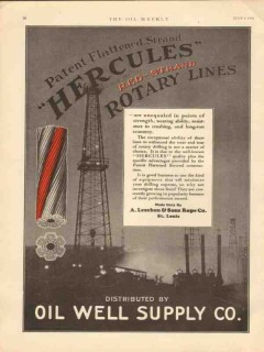 A Leschen Rope Company 1930 Vintage Ad Oil Patent Flattened Strand