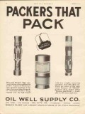 Oil Well Supply Company 1930 Vintage Ad Oilwell Packers Pack Dove-tail