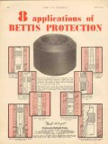 Patterson-Ballagh Corp 1930 Vintage Ad Bettis Protection Applications