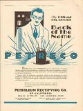 Petroleum Rectifying Company 1930 Vintage Ad Oilfield Back Of The Name