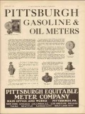 Pittsburgh Equitable Meter Company 1930 Vintage Ad Gasoline Oil