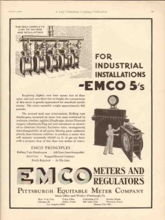 Pittsburgh Equitable Meter Company 1930 Vintage Ad Oil Industrial EMCO
