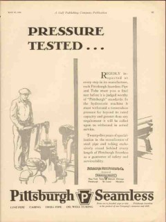 Pittsburgh Steel Products Company 1930 Vintage Ad Oil Pressure Tested