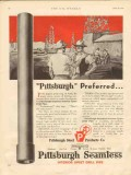 Pittsburgh Steel Products Company 1930 Vintage Ad Drill Pipe Preferred