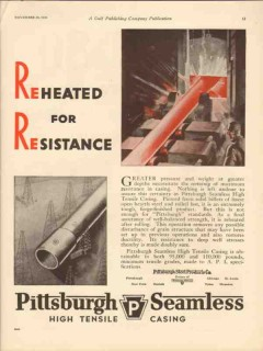 pittsburgh steel products company 1930 reheated resistance vintage ad