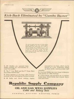 American Well Prospecting Company 1930 Vintage Ad Gumbo Buster Kick