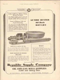 American Well Prospecting Company 1930 Vintage Ad Gumbo Buster Bath