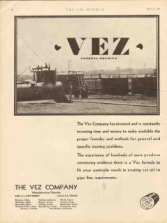 vez company 1930 invested time money formulas chemical oil vintage ad