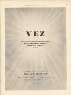 vez company 1930 approach perfection cut oil pipe line vintage ad