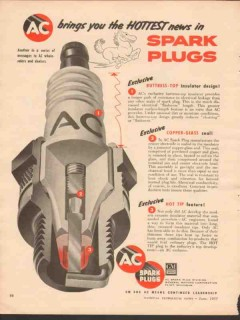 ac spark plug 1955 gm brings hottest news exclusive vintage ad