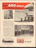 ARO Equipment Corp 1955 Vintage Ad Lube J Wallace DeBrown Auto Sales
