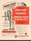 Alemite 1955 Vintage Ad Proved Faster Super-H Pump Grease Lubricates