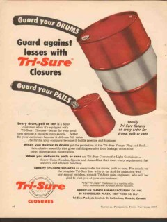american flange mfg company 1955 guard drums pails closures vintage ad