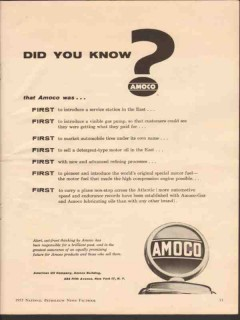 American Oil Company 1955 Vintage Ad Gasoline Did You Know AMOCO First